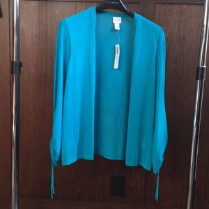 Chico's ruched sleeve cardigan